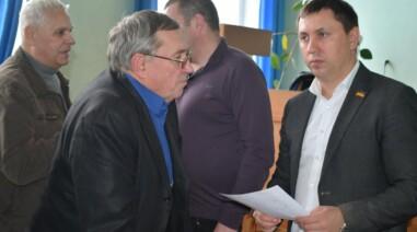 Зустріч iз виборцями в залі засідань Шполянської районної ради
