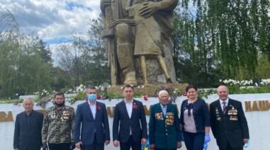 Місто Городище. Привітав ветеранів та поклав квіти біля Обеліска Слави